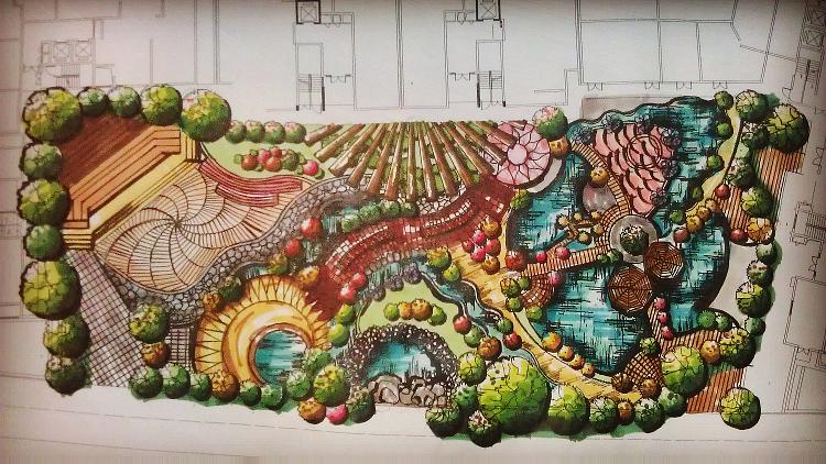 手绘景观效果图平面图