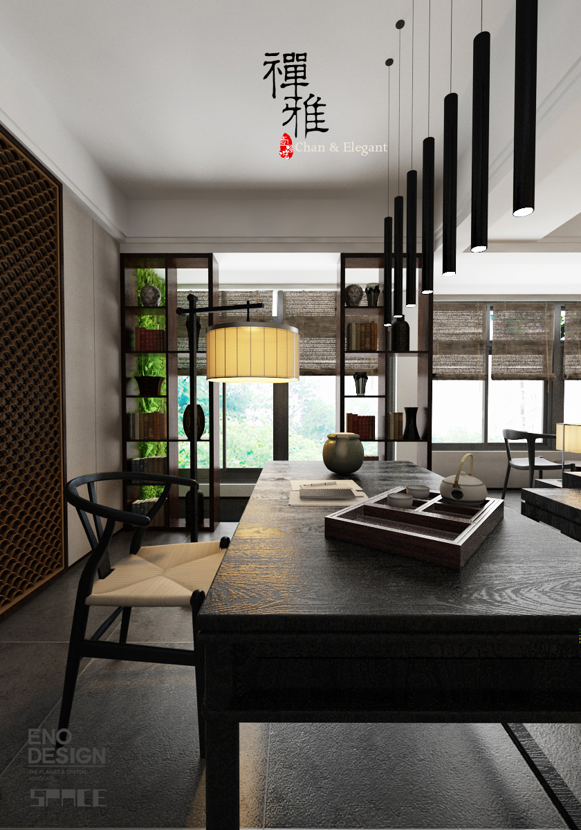 禅·雅 新中式客厅设计图片