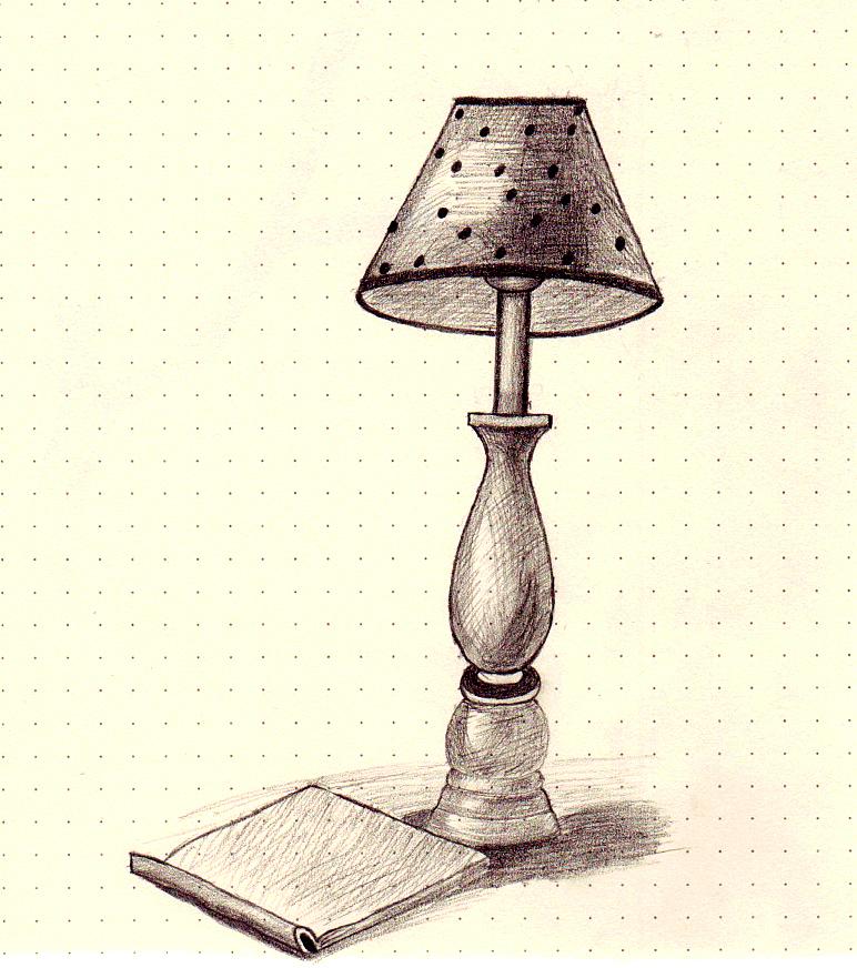 台灯手绘表现图