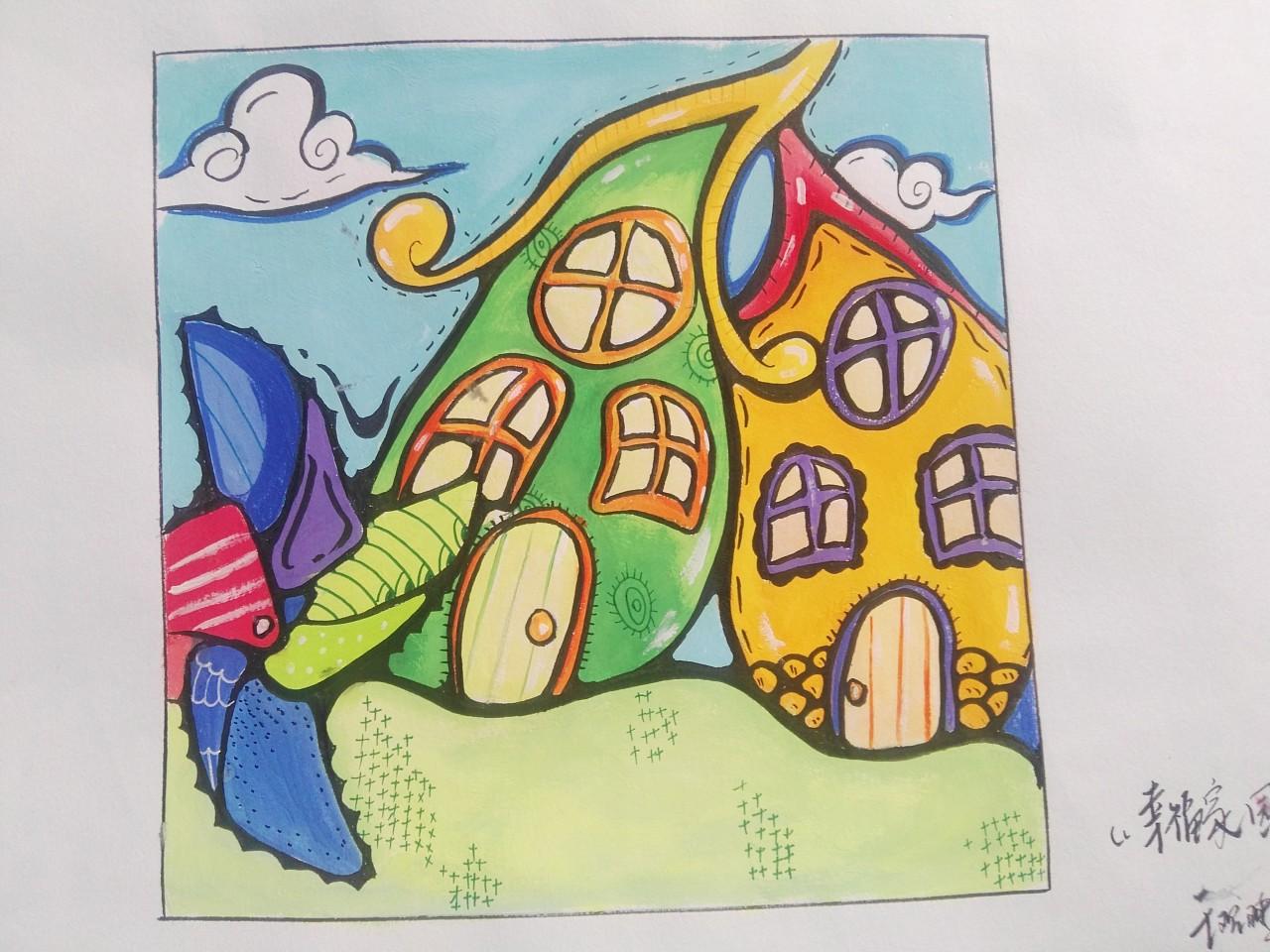 童画画鸟_彩色装饰画|纯艺术|其他艺创|怂鸟 - 原创作品 - 站酷