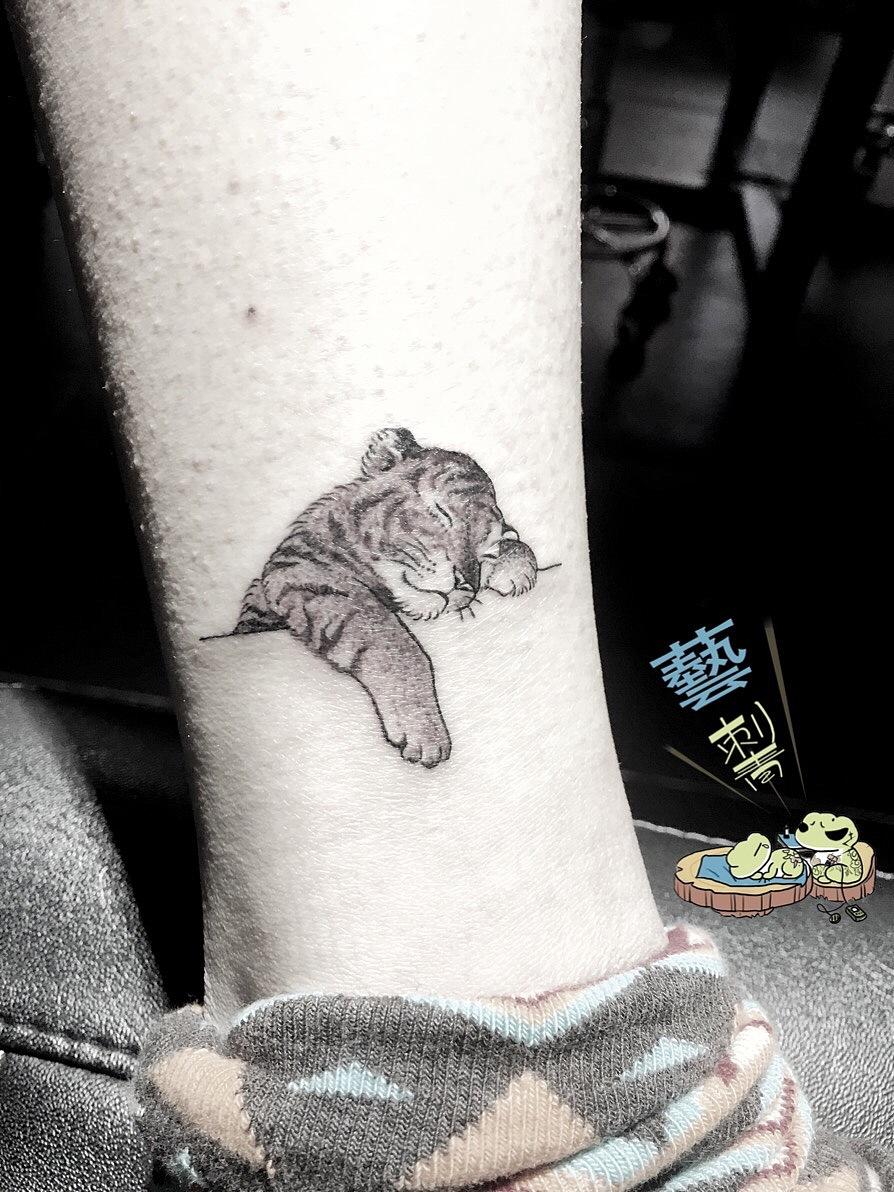 小老虎纹身