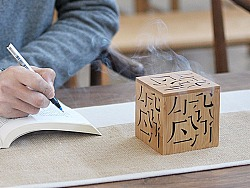 文字竹香炉