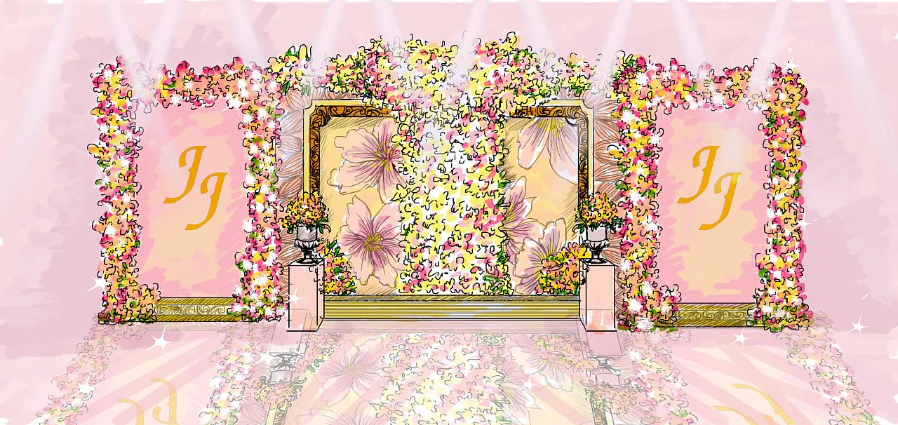 小型婚礼手绘