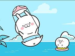 微信表情包·蛋丸兔与丫丫