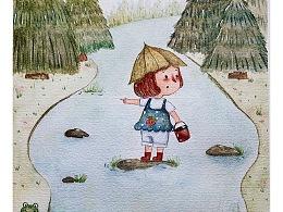水彩儿童插画