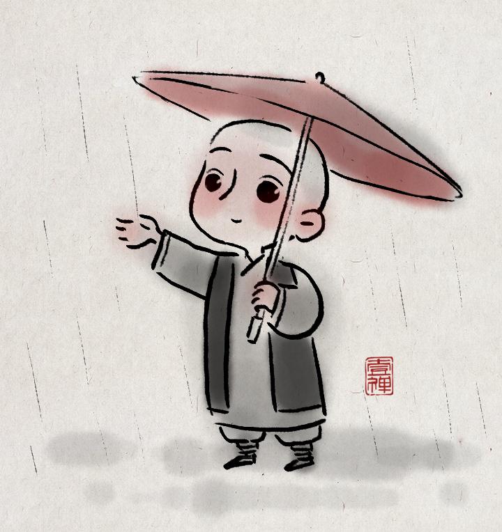 一禅小和尚 头像|其他插画|插画|一禅小和尚 - 原