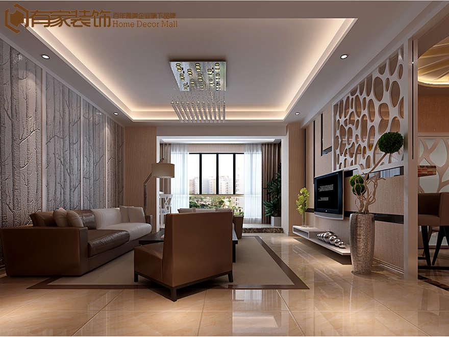 厦门禹州领海105平现代简约风格装修效果图 室内设计