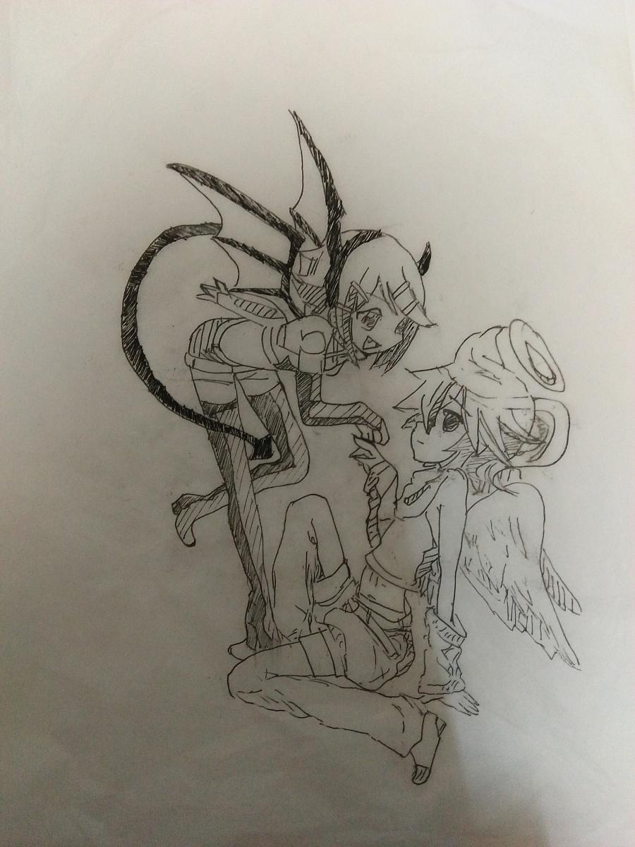 恶魔与漫画|单幅动漫|漫画|踏雪墨迹-原创v恶魔天使医园图片