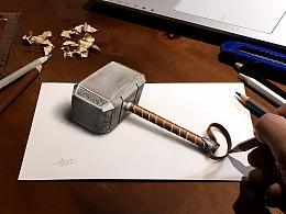 彩铅插画—锤子