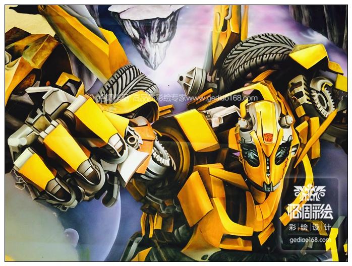 [3d立体画]变形金刚大黄蜂——华润置地