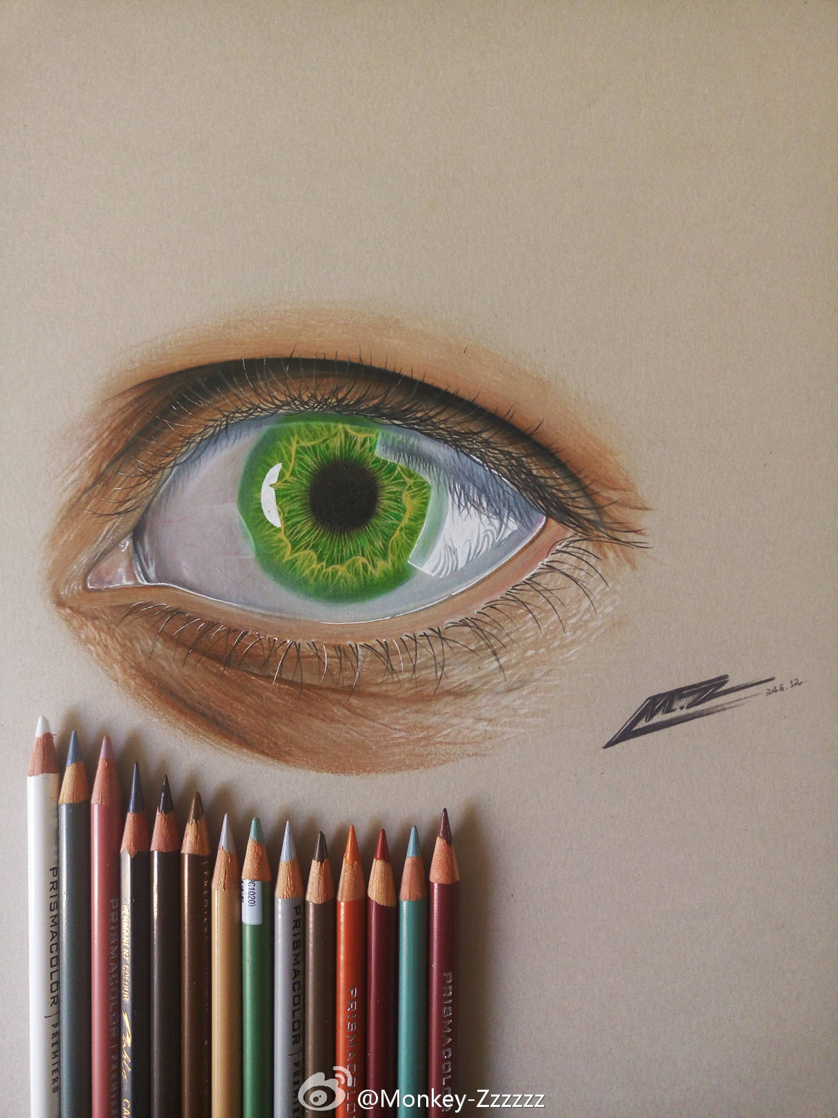 彩铅超写实手绘