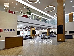 银行金融证劵机构营业办公环境空间摄影—中信银行
