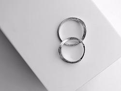 梵尼洛芙珠宝 | 结婚对戒《清流 Spring》