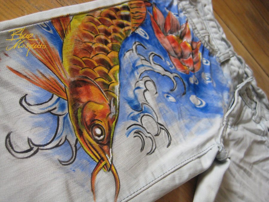 画条裤子-手绘 类 作品 为客户 画的几 条牛仔裤 商业插画 插