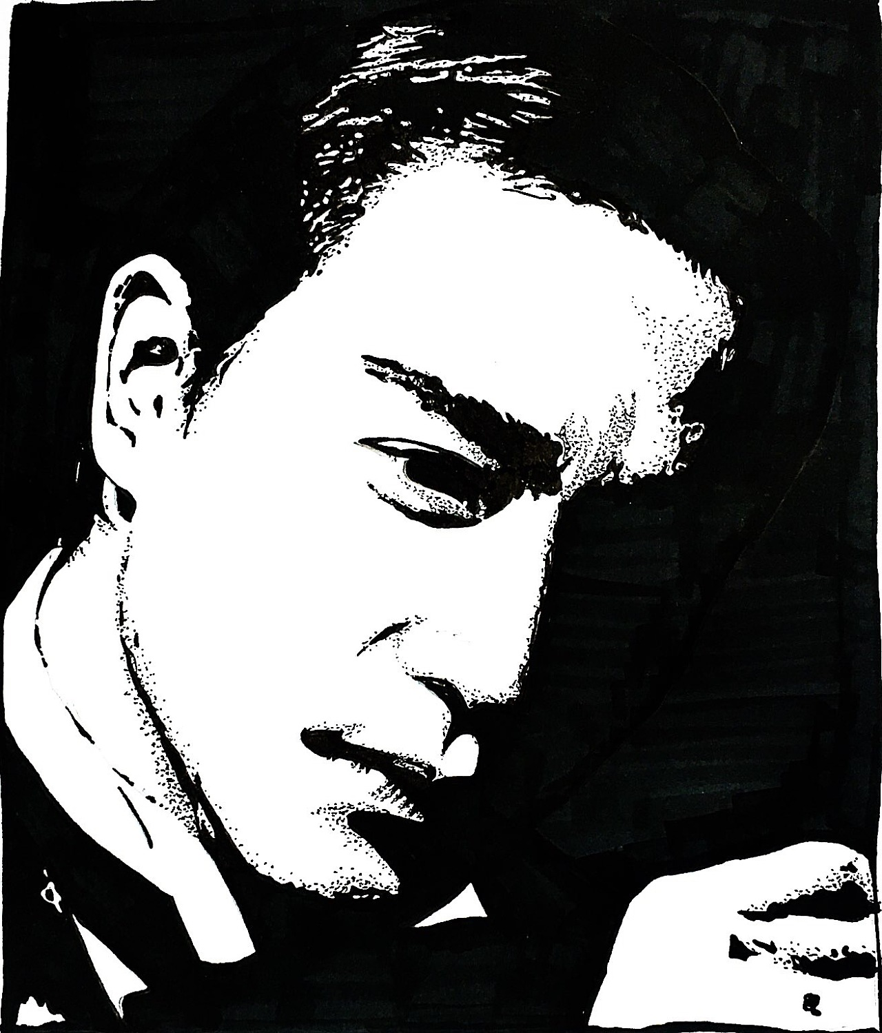 马克笔手绘张国荣插画图片