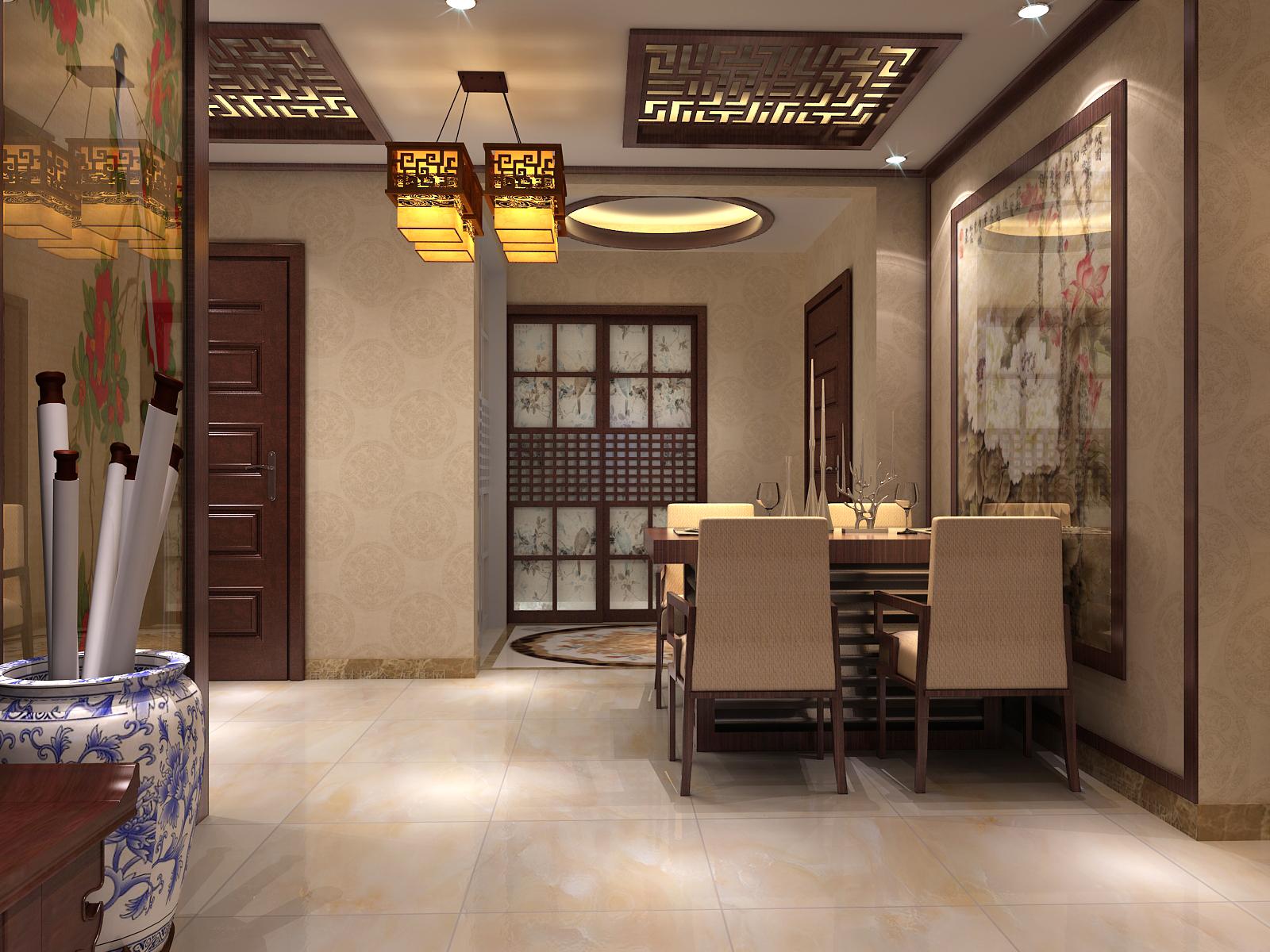 中式客餐厅图片