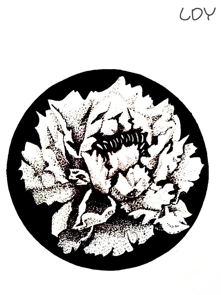 黑白手绘 小屋