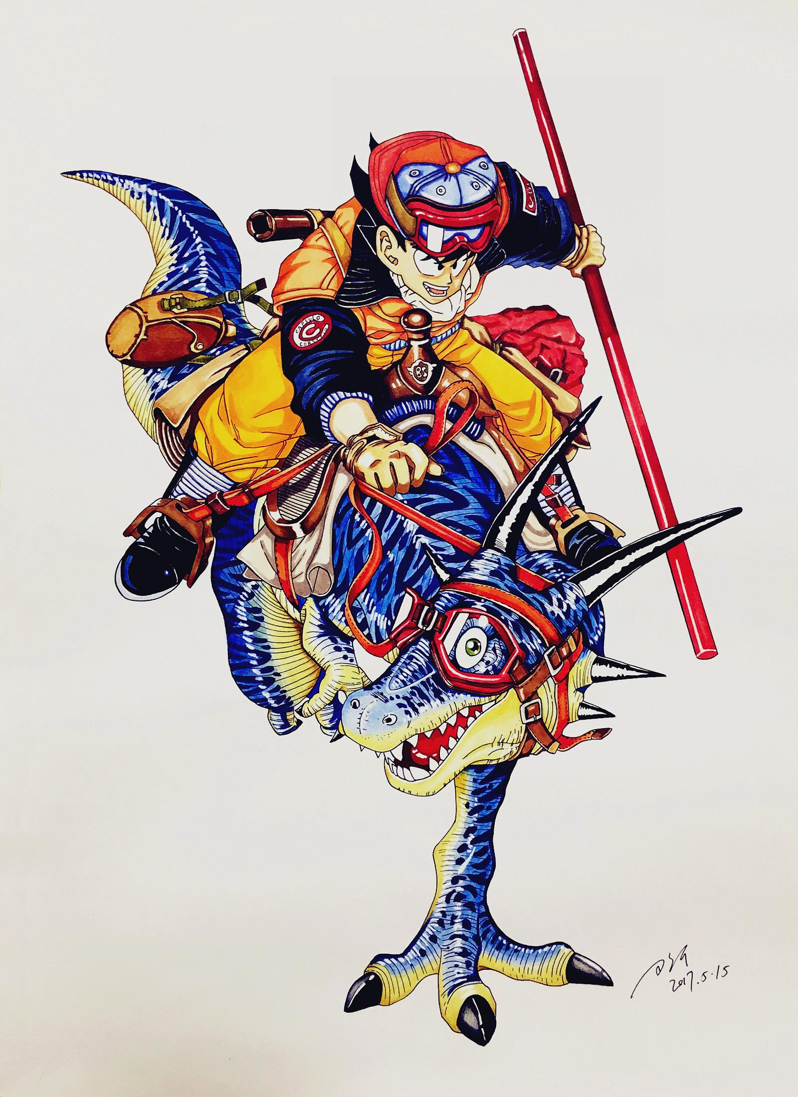 马克笔手绘七龙珠|动漫|绘本|g飞鸟g - 原创作品