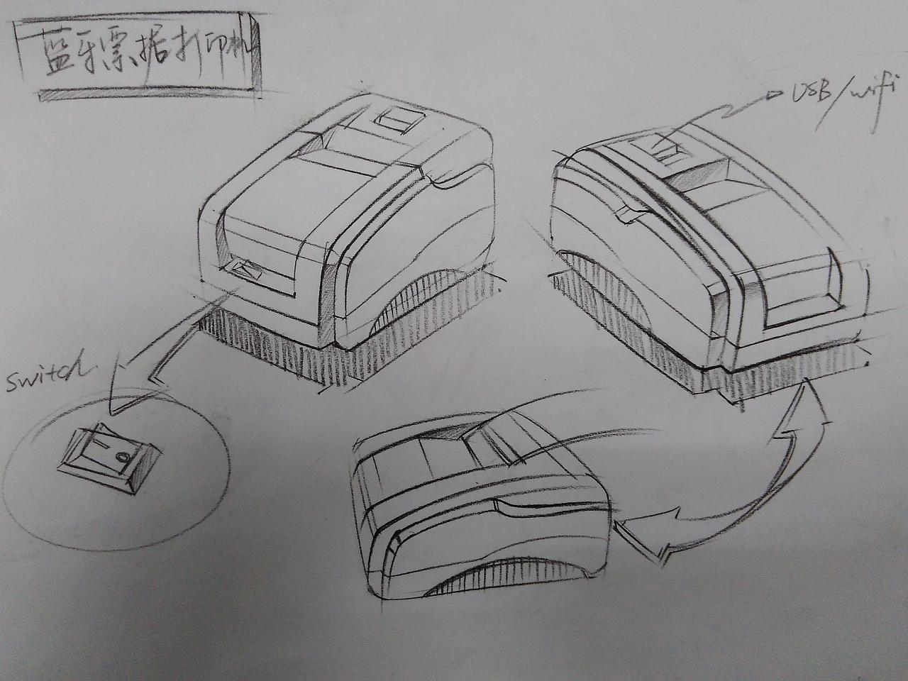 工业手绘素描