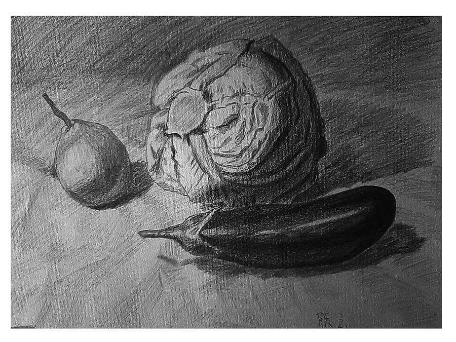 一些铅笔手绘练习|其他插画|插画|妄想症的左猫