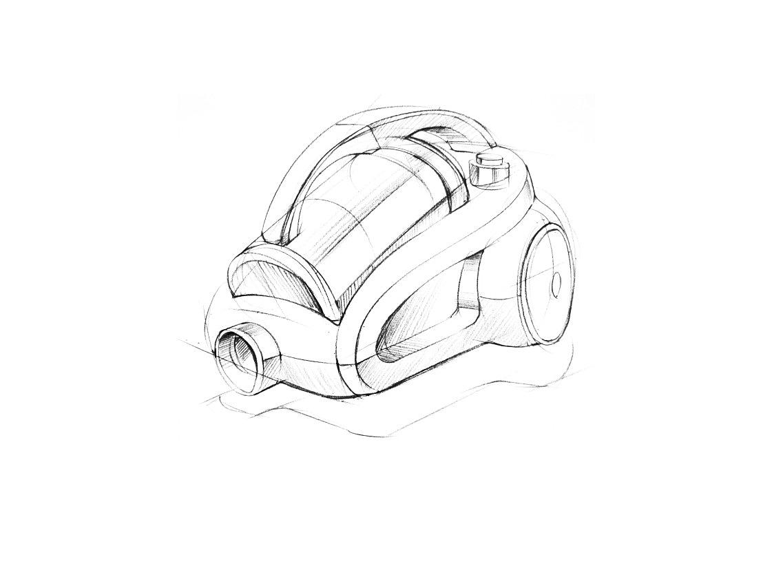 吸尘器手绘步鄹图~~马赛作品|工业/产品|生活用品