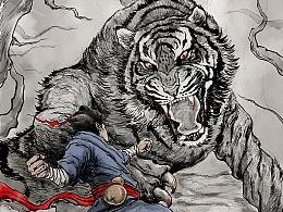 《伏虎武松》概念海报