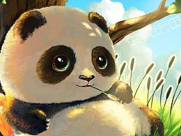 熊猫冰箱贴  来帮我贴一下~