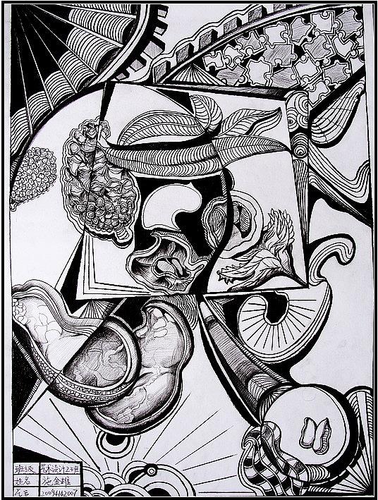 抽象素描(装饰画)图片