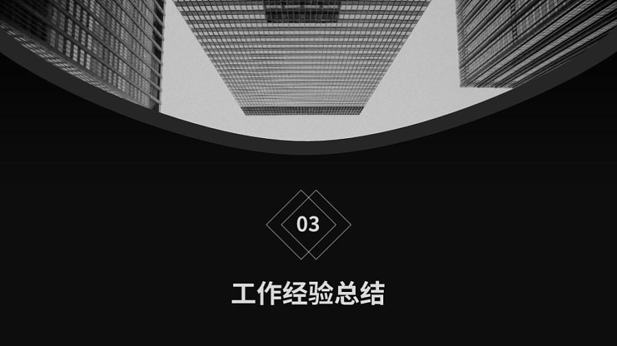 [卡特出品]黑白灰通用企业年终汇报ppt模板图片