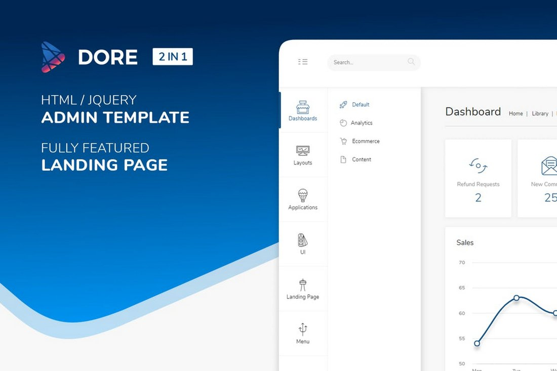 <strong>1<\/strong>.dore – html jquery bootstrap admin template