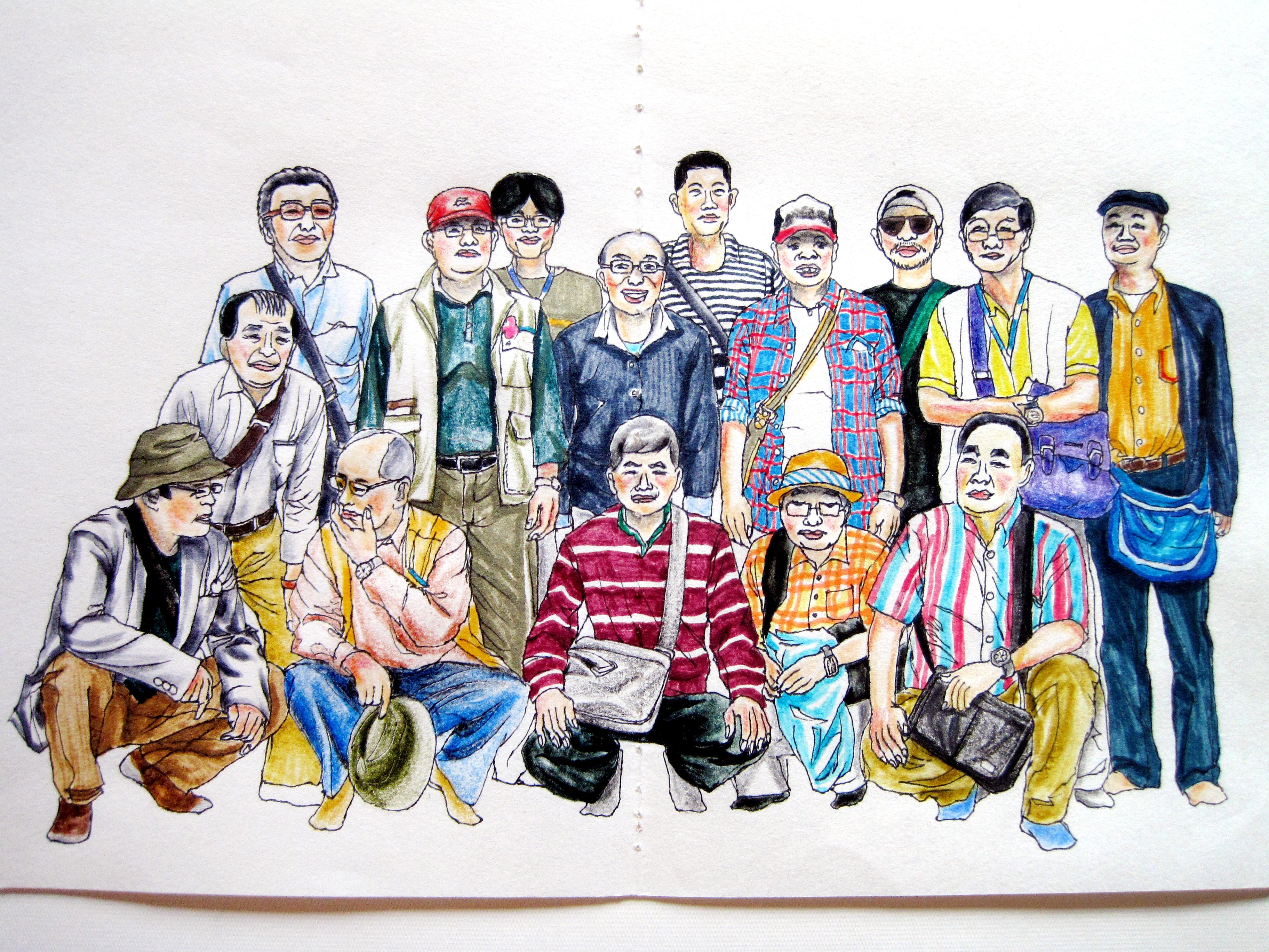 手绘-泰国游记-插画