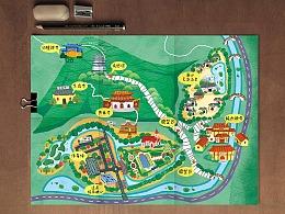 镇江圌(chuí )山手绘地图一张