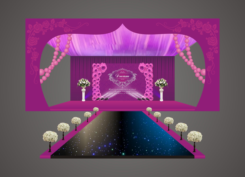唯美婚礼舞台设计
