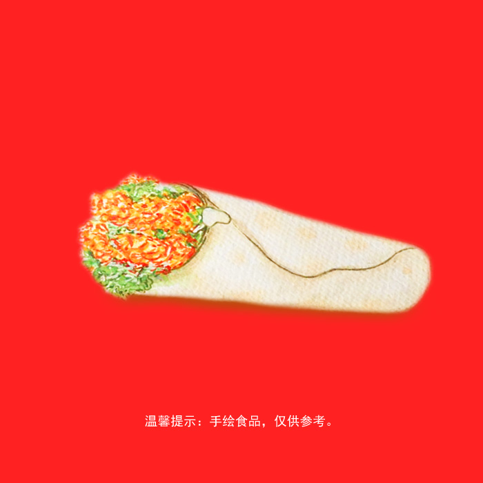 手绘美食(汉堡炸鸡单品&套餐组合)