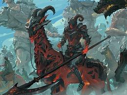 《远征》《诸神决战》世界观插画与一些概念速涂