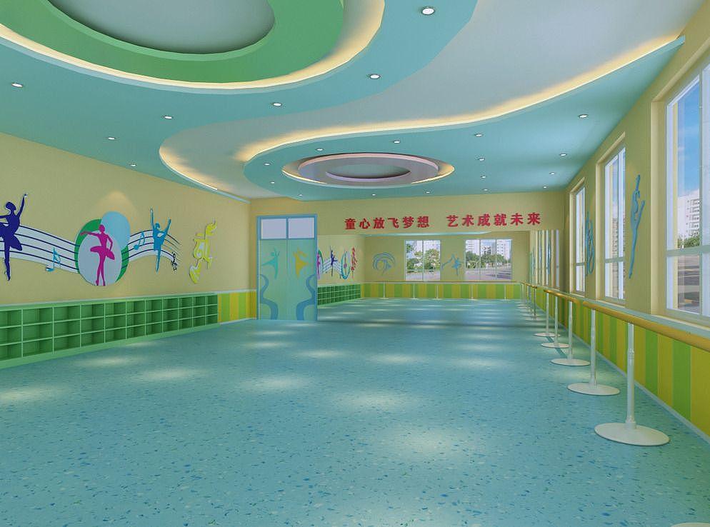 成都儿童舞蹈室装修-成都舞蹈儿童培训学校设广告设计表示好a儿童图片