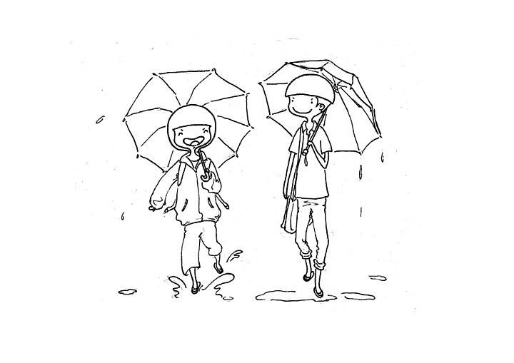 下雨的简笔画图片大全