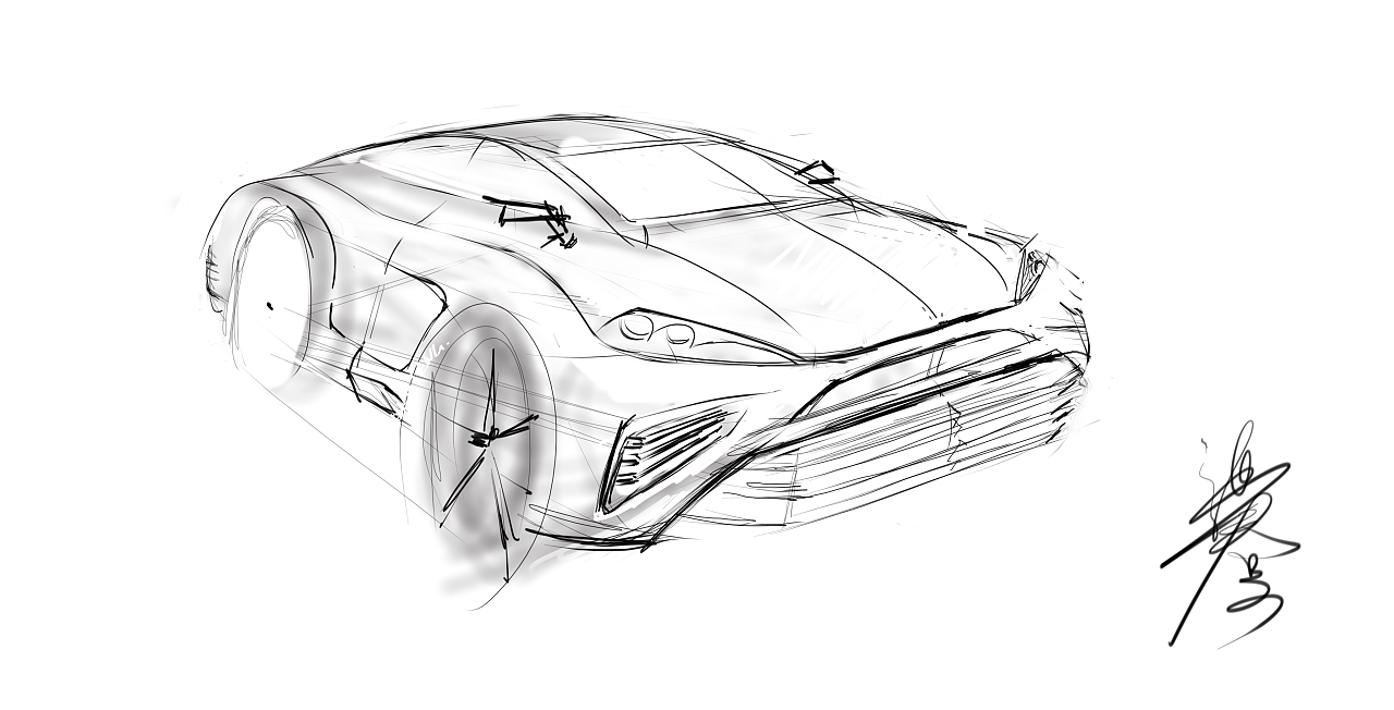原创汽车外观设计手绘,绝对原创,如有雷同