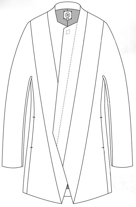 门襟服装款式图手绘