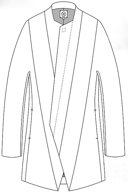 外套服装手绘设计图
