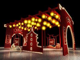 春节新中式灯笼走廊打卡点
