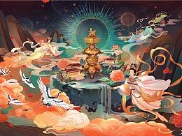 永乐宫插画系列——《天宫赐福》
