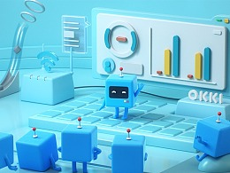 智能创造价值 OKKI品牌形象动画