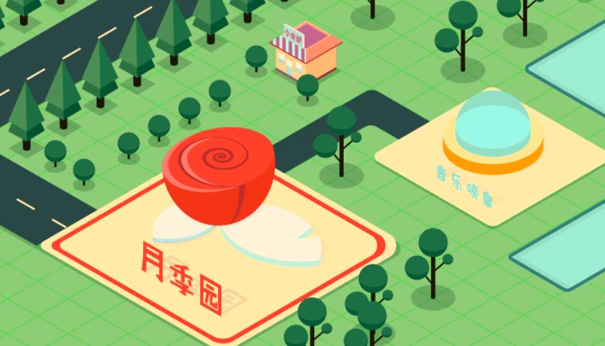 北京植物园创意地图