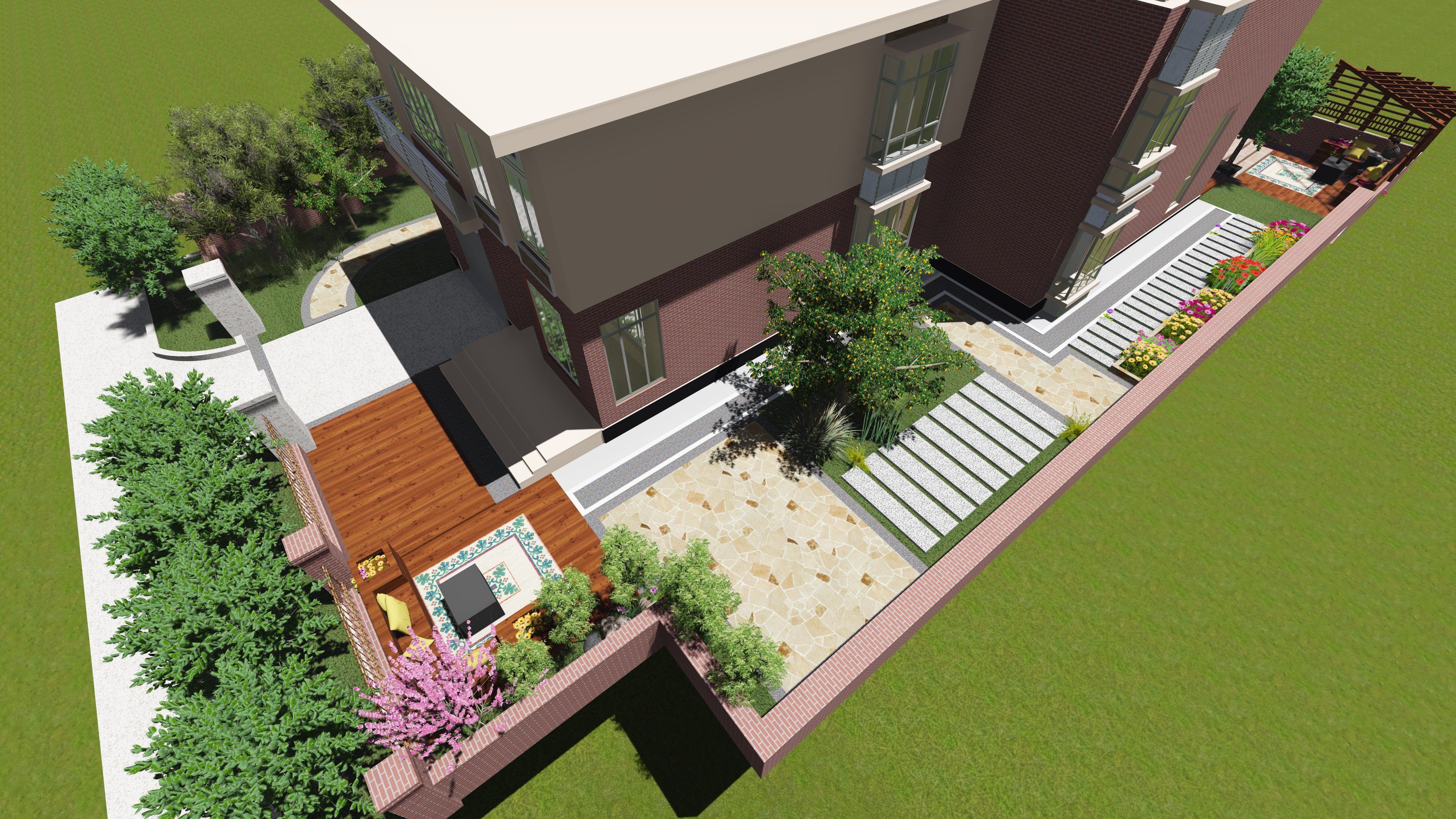 现代庭院花园景观设计风格分析图片