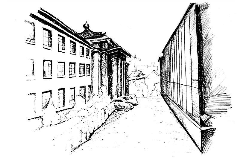 建筑速写|空间|建筑设计|wt6121 - 原创作品 - 站酷图片