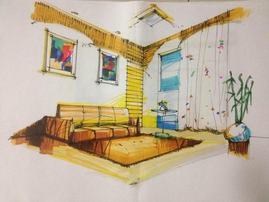 室内设计手绘.
