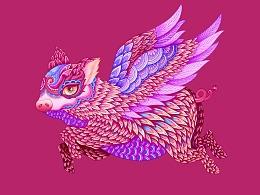 二零一九第一画-猪年大吉