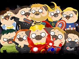 阿怪cos「复仇者联盟」系列头像,用了都有超能力