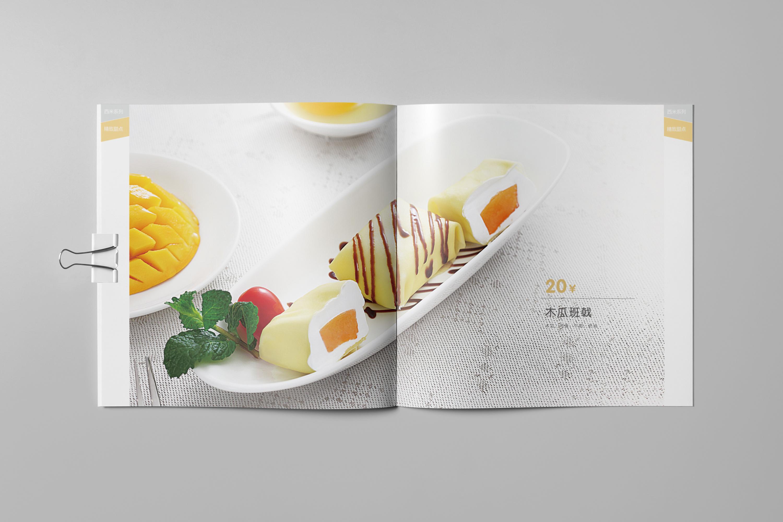 甜品画册设计图片